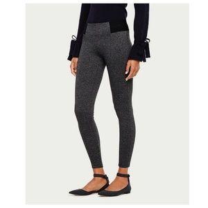 ANN TAYLOR Charcoal Gray Ponte Knit Leggings [E6]